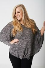 Ladies Kimono Sleeve Top Loose Plus Size Shirt Blouse Tunic Knitted Casual Women