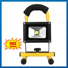 Portable 10W LED Spot Work Light Flood Lamp Rechargeable Camping Waterproof