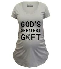 Pregnancy Shirts Maternity T shirts Tunic Clothes Gods Greatest Gift christian
