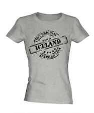 MADE IN ICELAND LADIES T-SHIRT GIFT CHRISTMAS BIRTHDAY 18TH 30TH 40TH 50TH 60TH