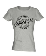 MADE IN INDONESIA LADIES T-SHIRT GIFT CHRISTMAS BIRTHDAY 18TH 30TH 40TH 50TH