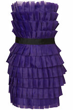 TOPSHOP PURPLE ORGANZA BANDEAU PROM WEDDING SPECIAL OCCASION COCKTAIL DRESS