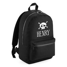 Edward Sinclair Personalised Essential Backpack With Pirate Skull and Name