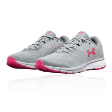 Under Armour Mujer Charged Rebel Correr Zapatos Zapatillas Gris Deporte