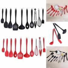 Kitchen Utensils Set Cooking Non-stick Spatula Ladle Slotted Spoon Tongs Tools