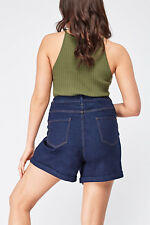 NEW LOOK CURVE High Waisted Denim Shorts HOLIDAY SUMMER PLUS Size 20-28 be shop