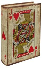 JACK QUEEN KING OF HEARTS STORAGE BOOK BOX PLAYING CARDS CHRISTMAS GIFT VINTAGE