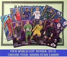 Choose Your Adrenalyn XL FIFA WORLD CUP RUSSIA 2018 RISING STAR Cards Panini