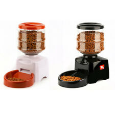 Pet Feeder 5.5L LCD Screen Electric Automatic with Voice Message Recording Large