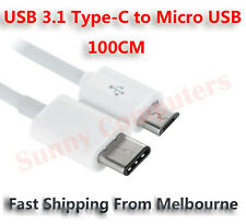 USB 3.1 Type-C to Micro USB Adapter Cable Data Sync Power Supply Charge Cord AU