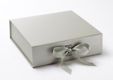 Luxury Silver Gift Box silver box gift boxes with ribbons Bridesmaid Gifts