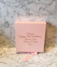 Luxury Pale Pink Gift Box Pale Pink box gift boxes with ribbons Bridesmaid Gifts