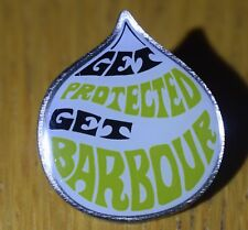 Barbour Heritage pin badges - Get Protected Get Barbour. Limited edition