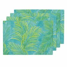 Cloth Placemats Palm Fronds Modern Aloha Indian River Textiles Tropical Set of 4