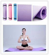 "BLUE 6mm Thick Non-Slip Yoga Mat Exercise Fitness Lose Weight 68""x24""x0.24""  JN"