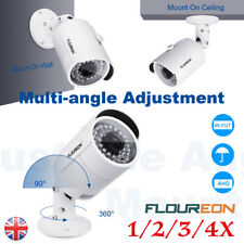 FLOUREON 720P AHD IP66 Camera CCTV 3.6mm For Security System DVR Night Vision UK
