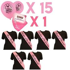 MAID HEN NIGHT PINK SASH BRIDE ACCESSORIES PARTY SASHES GIRLS NIGHT OUT WEDDING