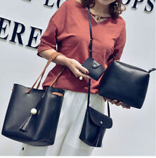 4pcs/set Ladies Women Leather Handbag Shoulder Tote Purse Satchel Messenger Bag