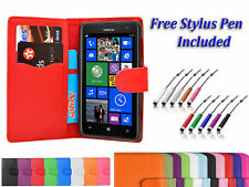 Magnetic PU Leather Side Flip Wallet Book Case Cover For Nokia Lumia 630 uk