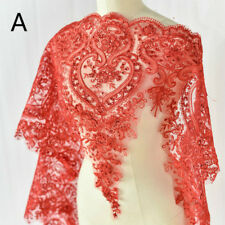 Sequins Embroidered Floral Lace Fabric Wedding Bridal Dress Decor Craft By Yard