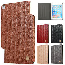 Folio Weave Leather Smart Cover Stand Case Fr New iPad Mini 9.7 5th 6th Gen 2018