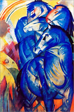 Póster, lienzo o cuadro en metacrilato Tower of Blue Horses - Franz Marc
