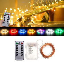 Battery Powered 10M 100LEDs Waterproof Copper Wire Fairy String Light for