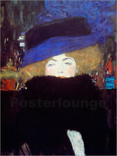 Póster, lienzo o cuadro en metacrilato Woman with Hat and Feather Boa - G. Klimt