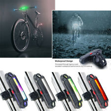 Bike Bicycle Cycling USB Rechargeable Warning Light Front Rear LED Tail Lamp KK