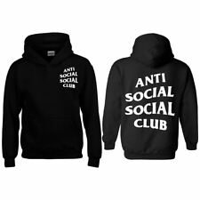 Anti Social Hoodie Top New Inspired Christmas Mens Adults Kids Hood Fancy