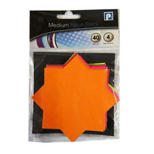 Neon Fluorescent Display / Pricing Card Packs - Star Shape - 3 Sizes Available