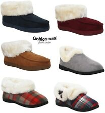 WOMENS LADIES LUXURY WARM FUR LINING THERMAL BOOTS ANKLE BOOTIE SLIPPERS SHOE UK