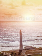 Poster, stampa su tela o vetro acrilico Morning glow at the lighthouse