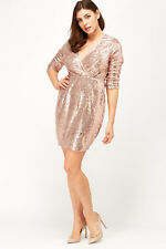 NEW ASOS Rose Gold SEQUIN Eve XMAS PARTY Dress PLUS Size 18-24 CURVE Look be 22