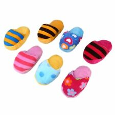 Dog Toy Pet Puppy Chew Squeaky Squeaker Sound Plush Slipper Shape Pet Funny Toys