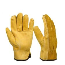 1Pair Leather Gloves Working Protection Gloves Security Garden Labor Gloves