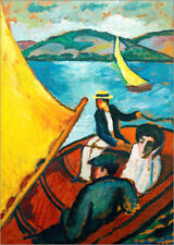 Poster / Toile / Tableau verre acrylique Voilier, Tegernsee - August Macke