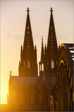 Póster, lienzo o cuadro en metacrilato Sunset behind the Cologne Cathedral