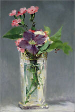 Póster, lienzo o cuadro en metacrilato Pinks and Clematis in a C... - E. Manet