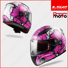 CASCO INTEGRALE LS2 RAPID FF353 DONNA LADY POPPIES PINK ROSA 103532046