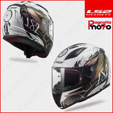CASCO INTEGRALE LS2 RAPID FF353 BOHO BIANCO NERO ROSA WHITE BLACK PINK