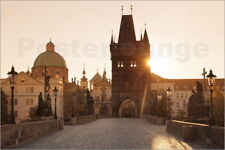 Poster / Toile / Tableau verre acrylique Charles Bridge with tower - M. Lange