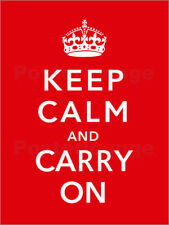 Póster, lienzo o cuadro en metacrilato Keep calm and carry on - John Parrot