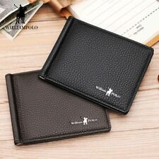 Wallet GENUINE Leather Slim Bifold Credit Card Holder Male Coin Pocket Purse