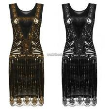 Women's O-Neck Sleeveless Sequined Cocktail Evening Party Bodycon Dress WST 03