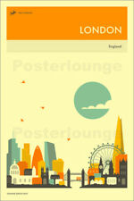 Póster, lienzo o cuadro en metacrilato LONDON TRAVEL POSTER - Jazzberry Blue