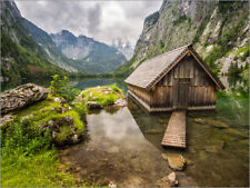 Póster, lienzo o cuadro en metacrilato Lonely Hut at Obersee /... - A. Wonisch