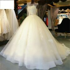 Lace  Floor-Length Ball Gown Wedding dress Train Up  Beading  Bridal Gown Custom