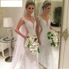 Wedding Dresses Cap Sleeve Bridal Gowns Lace Appliques Affordable High Quality