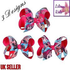 """Character Surprise Doll Hair Bows - 3 Designs - 4"""" Double Layered With Clip"""